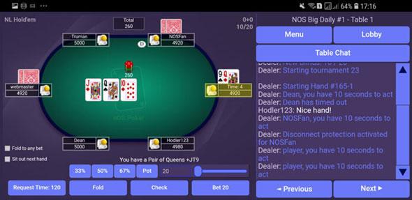 poker online obtiene su primer juego de prueba