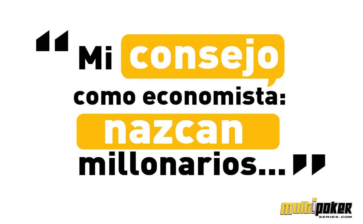 Mi consejo como economista: nazcan millonarios...