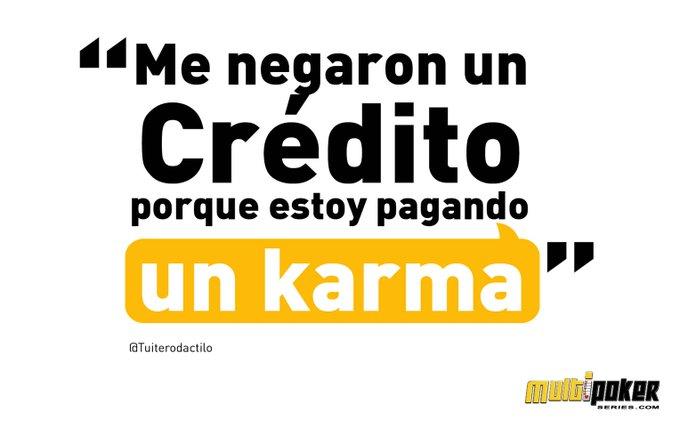 Me negaron un crédito porque estoy pagando un karma