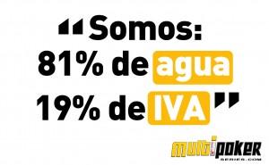 Somos 81% de agua y 19% de IVA